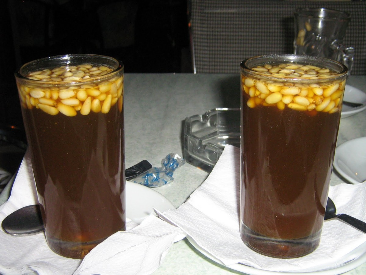 With pine nuts