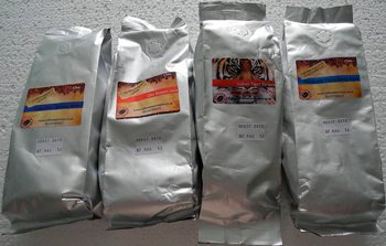 Aluminum bags for coffee