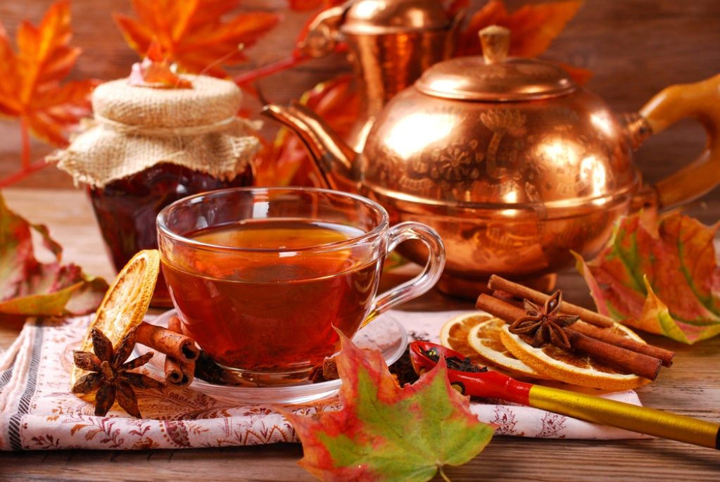 Tea helps to get rid of colds, relieve stress and fatigue