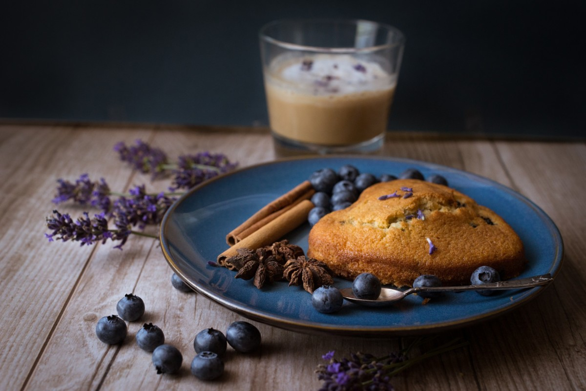 Peaches and blueberries go very well with lavender so they can be used with it