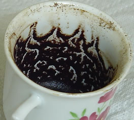Divination in the coffee grounds